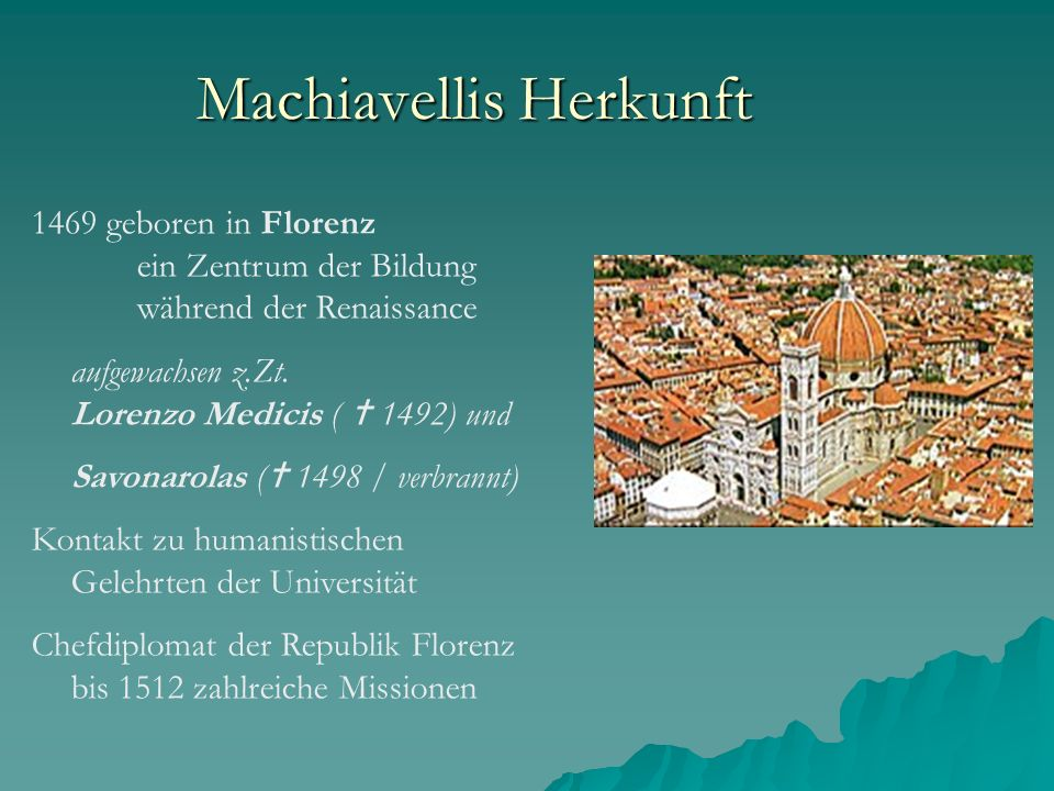 Machiavellis Herkunft