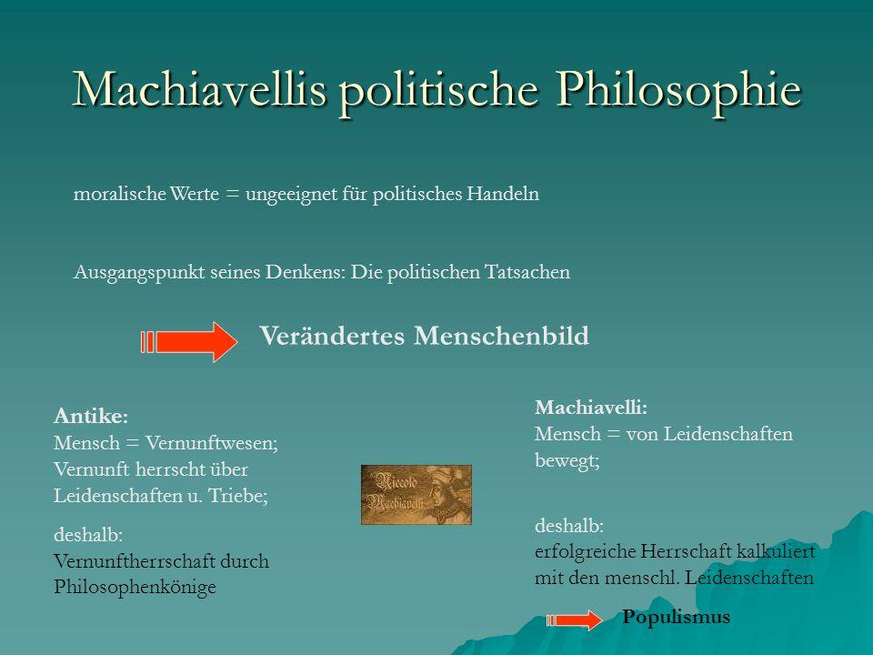 Machiavellis politische Philosophie
