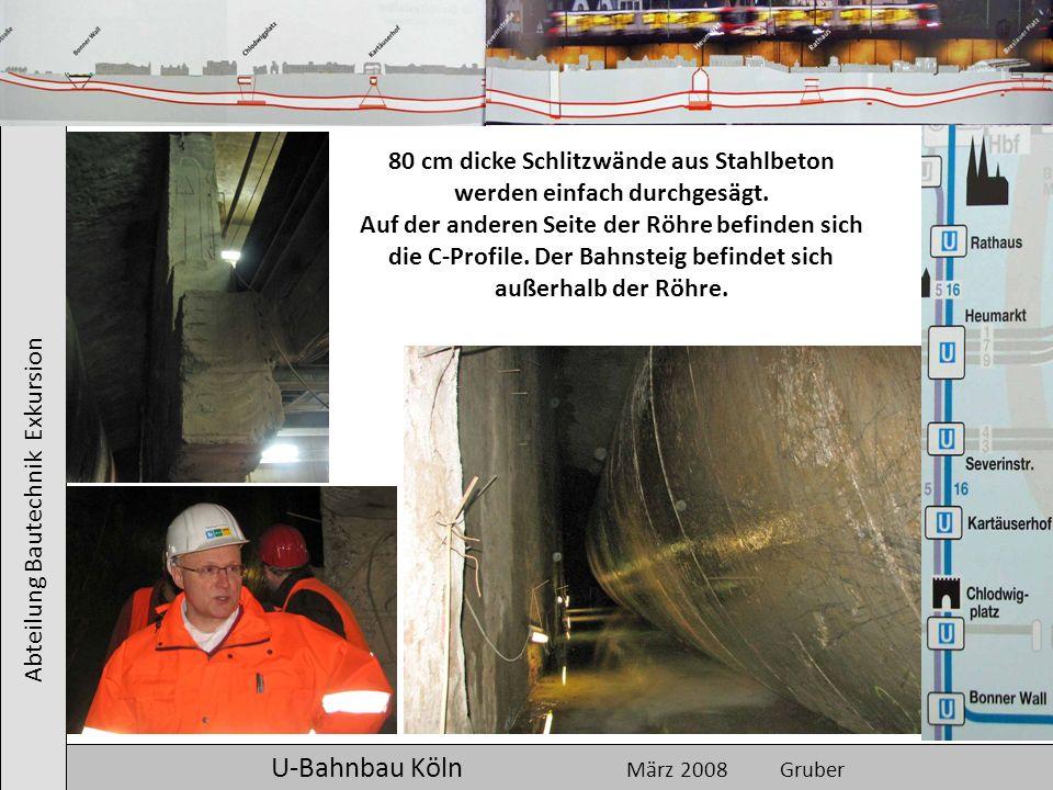 80 cm dicke Schlitzwände aus Stahlbeton werden einfach durchgesägt.