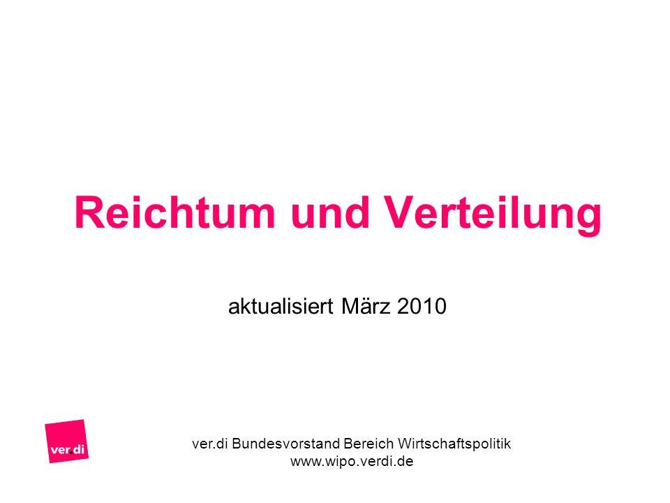 Reichtum und Verteilung aktualisiert März 2010