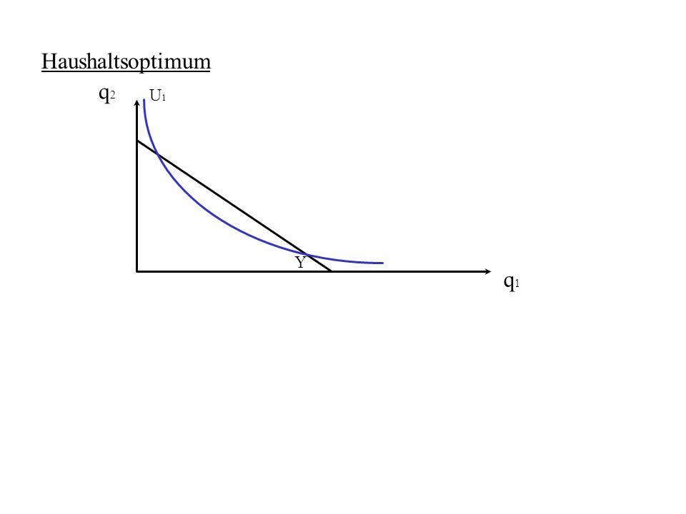 Haushaltsoptimum q2 U1 Y q1