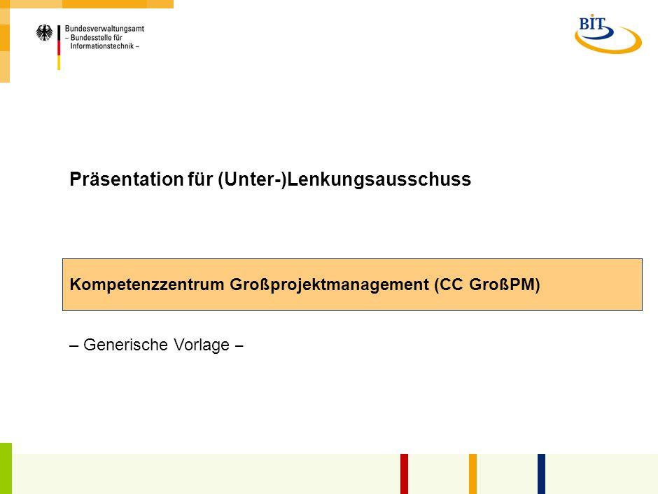Präsentation für (Unter-)Lenkungsausschuss