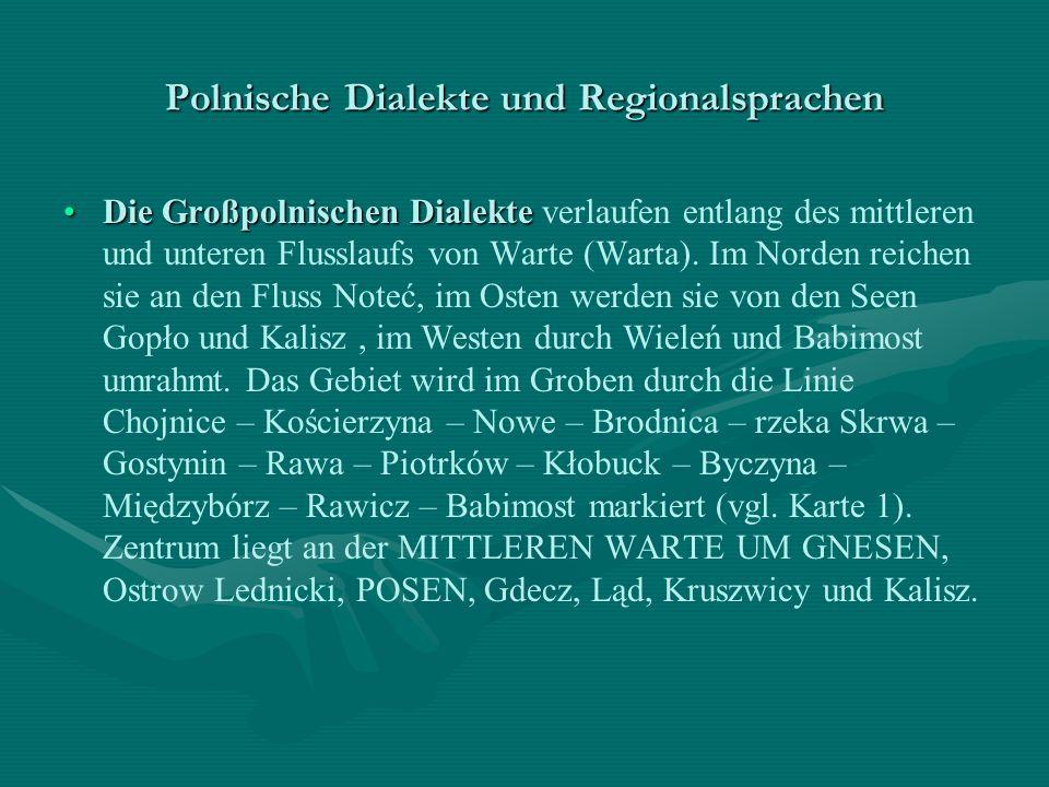 Polnische Dialekte und Regionalsprachen