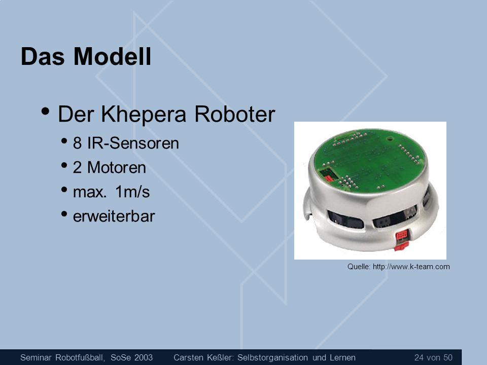 Das Modell Der Khepera Roboter 8 IR-Sensoren 2 Motoren max. 1m/s
