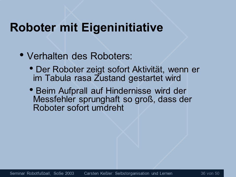 Roboter mit Eigeninitiative