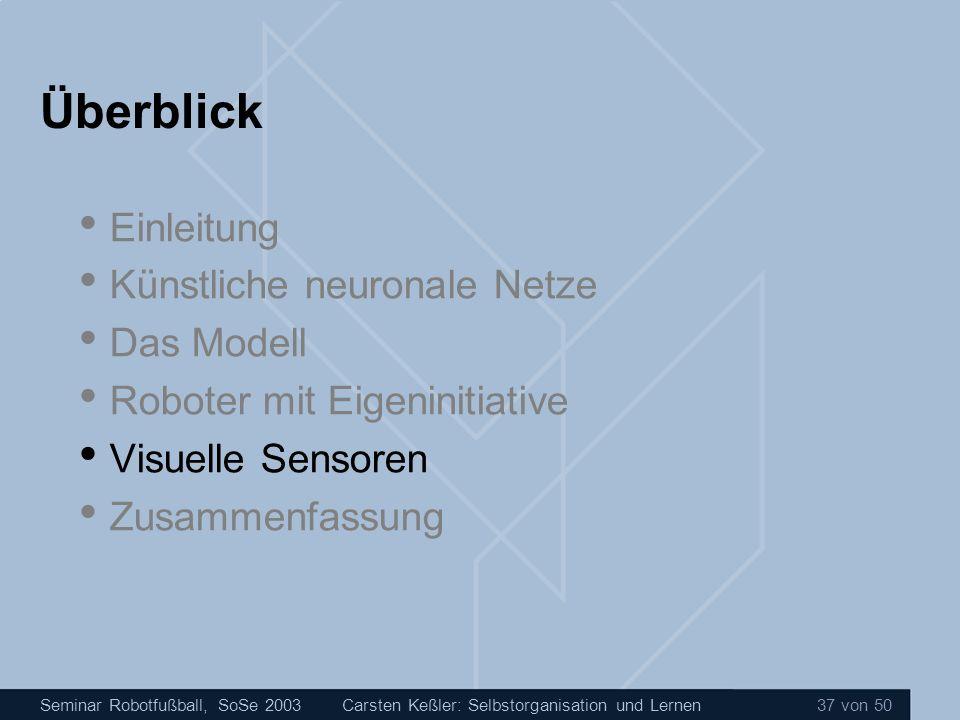 Überblick Einleitung Künstliche neuronale Netze Das Modell