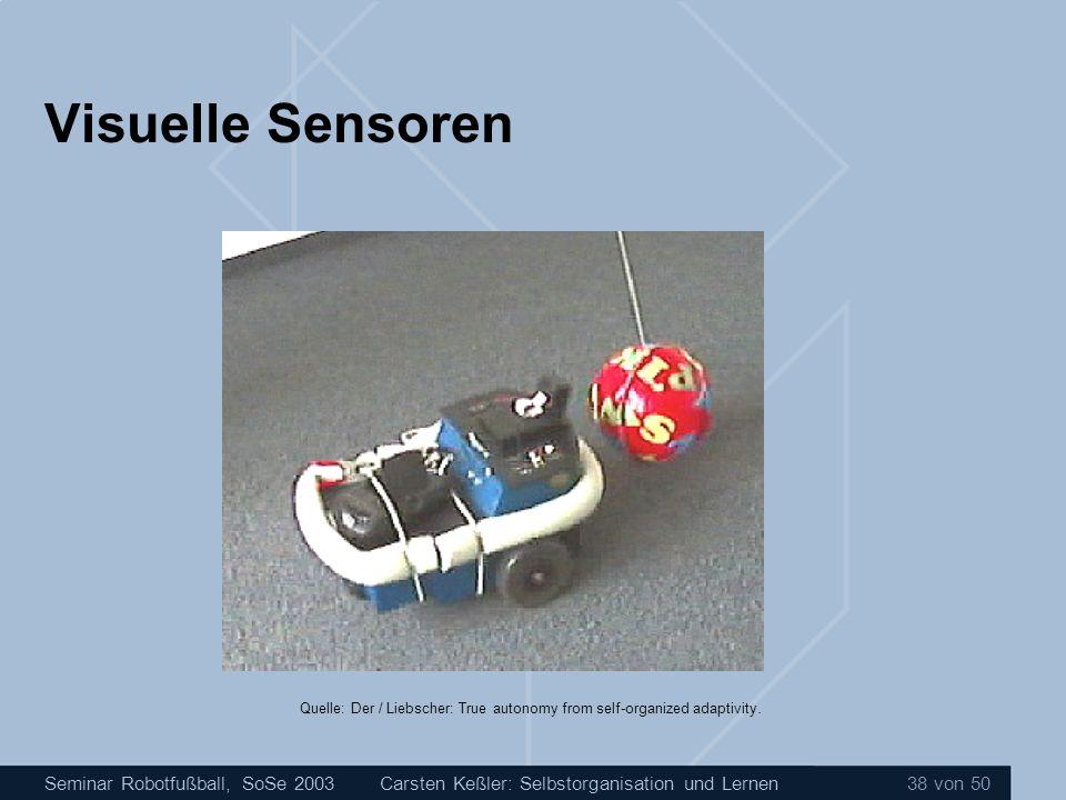 Visuelle Sensoren Carsten Keßler: Selbstorganisation und Lernen