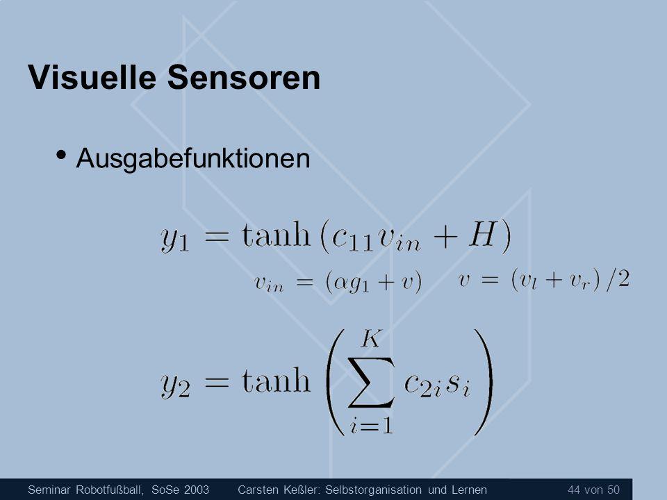 Visuelle Sensoren Ausgabefunktionen