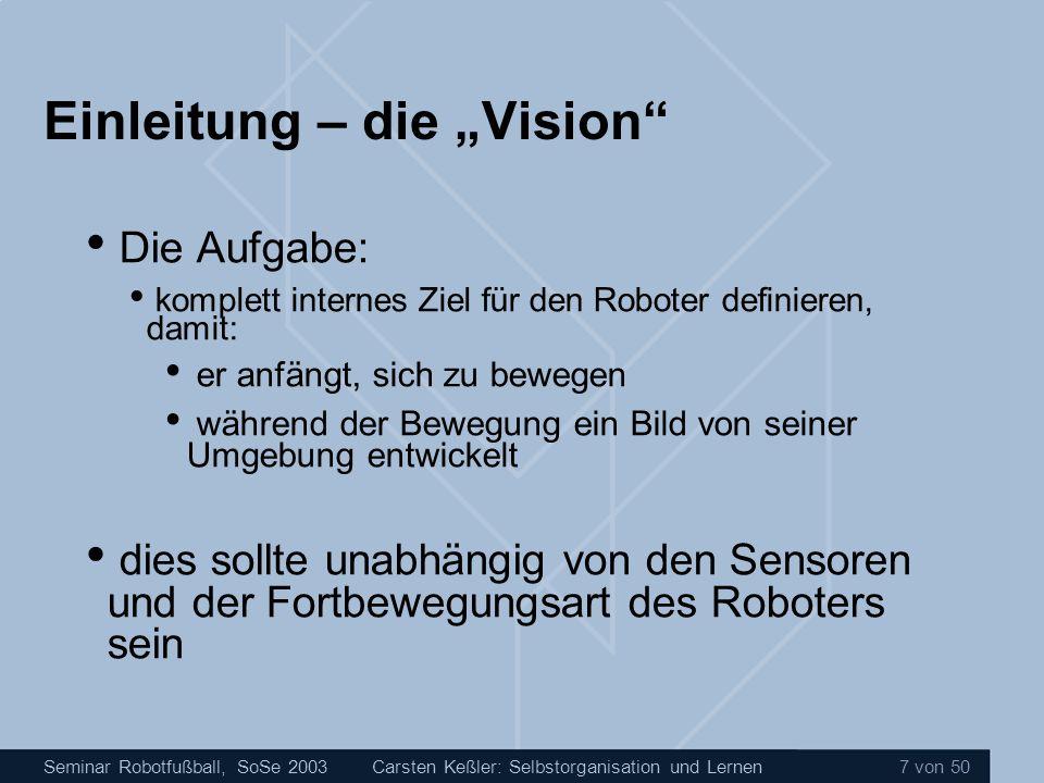 """Einleitung – die """"Vision"""