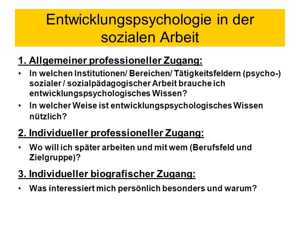 Entwicklungspsychologie in der sozialen Arbeit