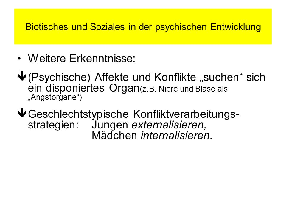 Biotisches und Soziales in der psychischen Entwicklung