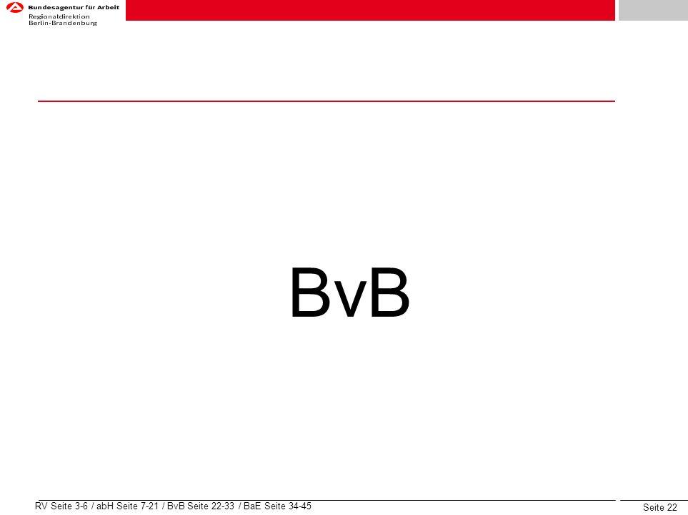 BvB RV Seite 3-6 / abH Seite 7-21 / BvB Seite 22-33 / BaE Seite 34-45