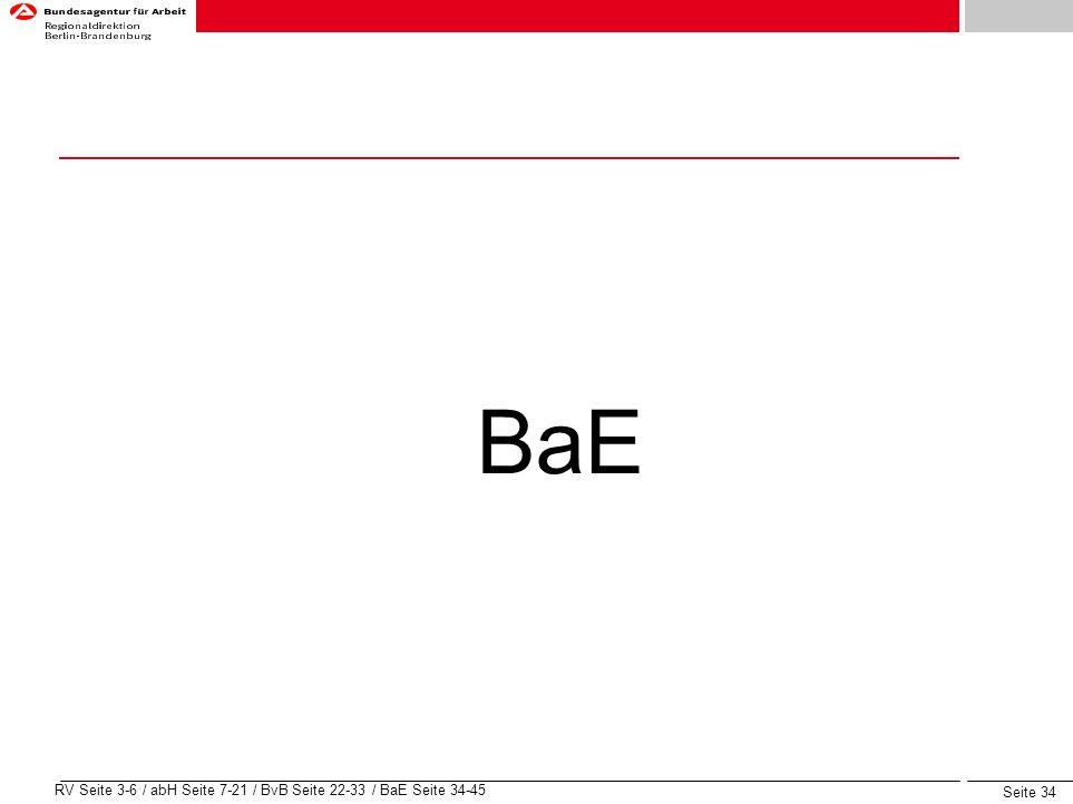 BaE RV Seite 3-6 / abH Seite 7-21 / BvB Seite 22-33 / BaE Seite 34-45