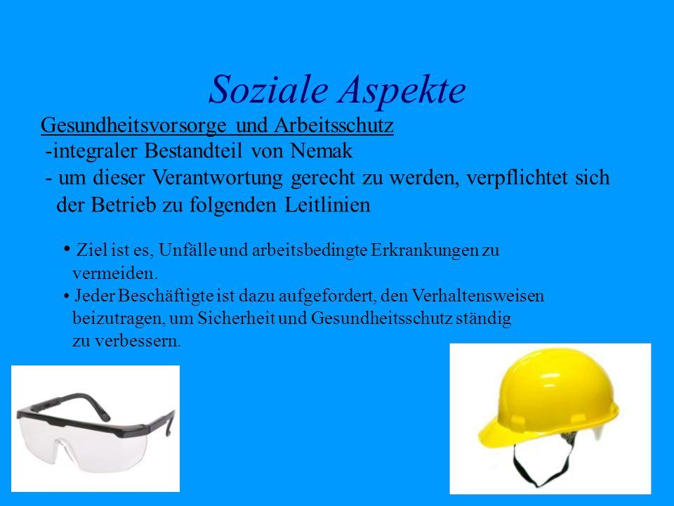 Soziale Aspekte Gesundheitsvorsorge und Arbeitsschutz