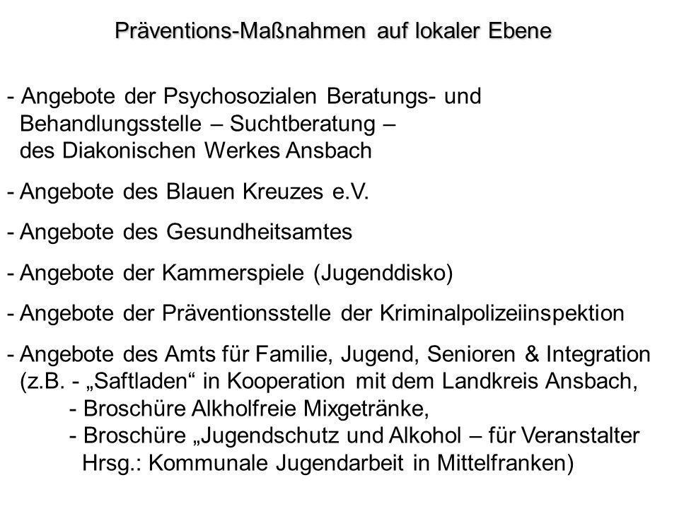 Präventions-Maßnahmen auf lokaler Ebene