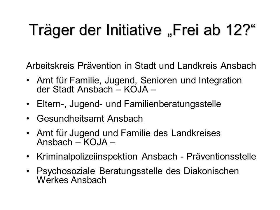 """Träger der Initiative """"Frei ab 12"""