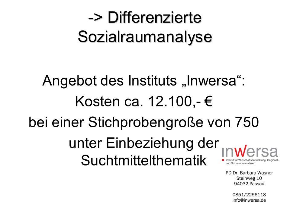 -> Differenzierte Sozialraumanalyse
