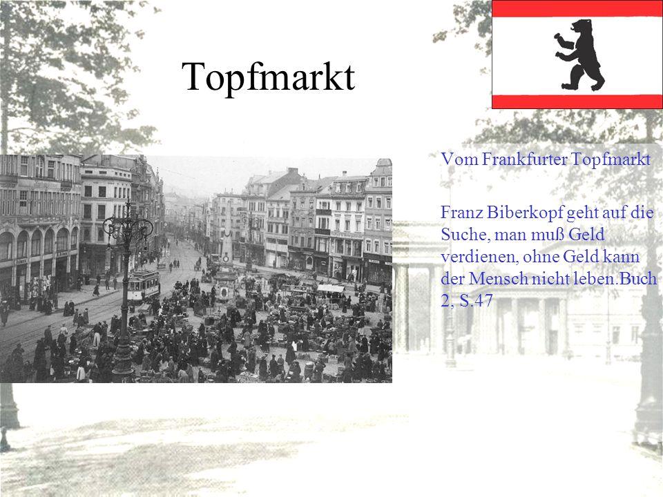 Topfmarkt Vom Frankfurter Topfmarkt