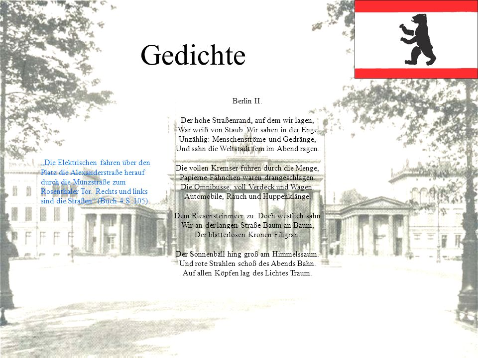 Gedichte Berlin II.