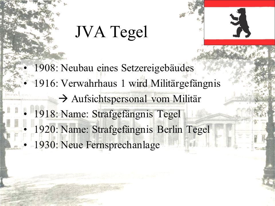 JVA Tegel 1908: Neubau eines Setzereigebäudes