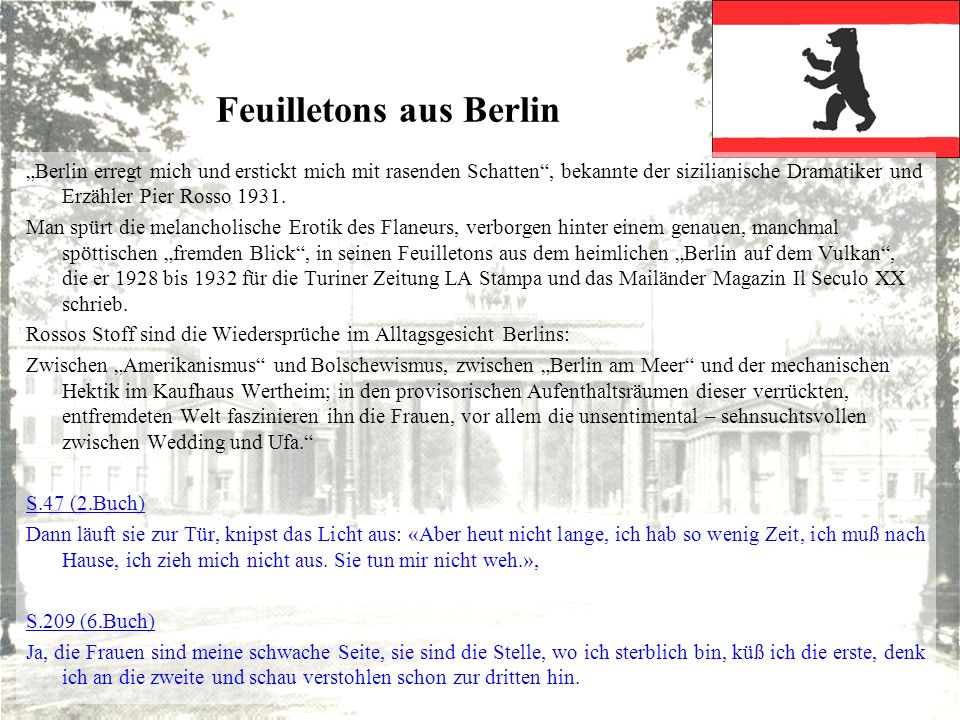 Feuilletons aus Berlin