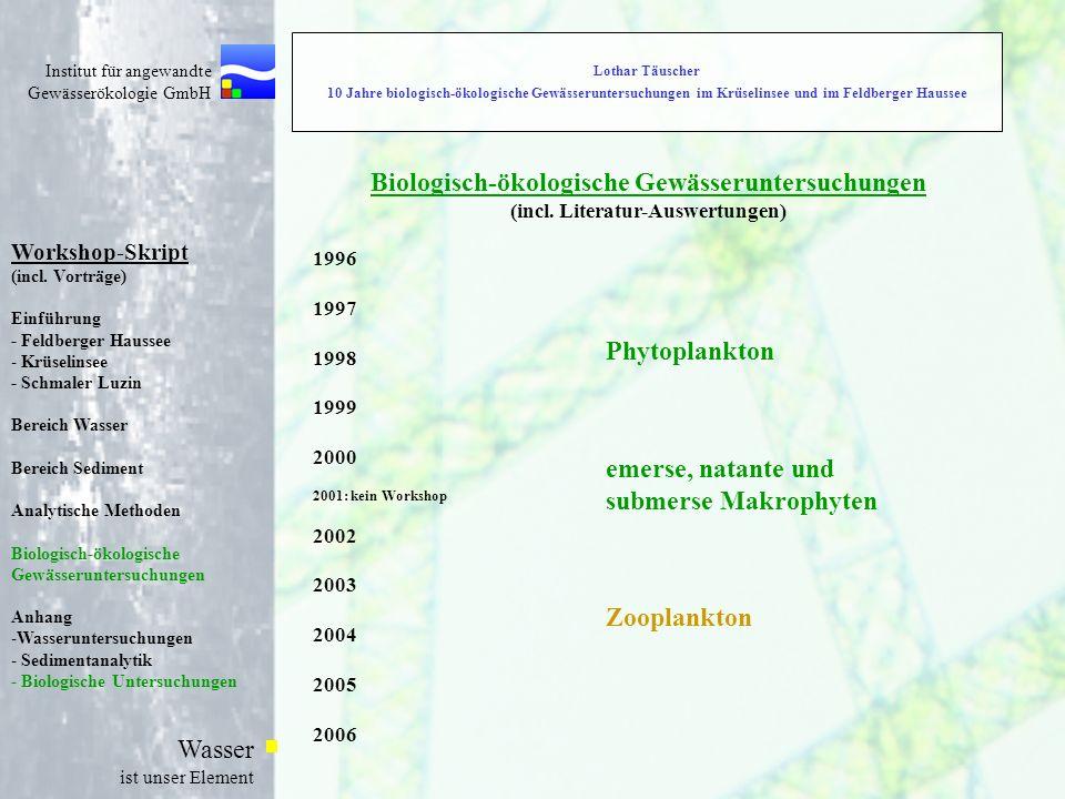 Biologisch-ökologische Gewässeruntersuchungen