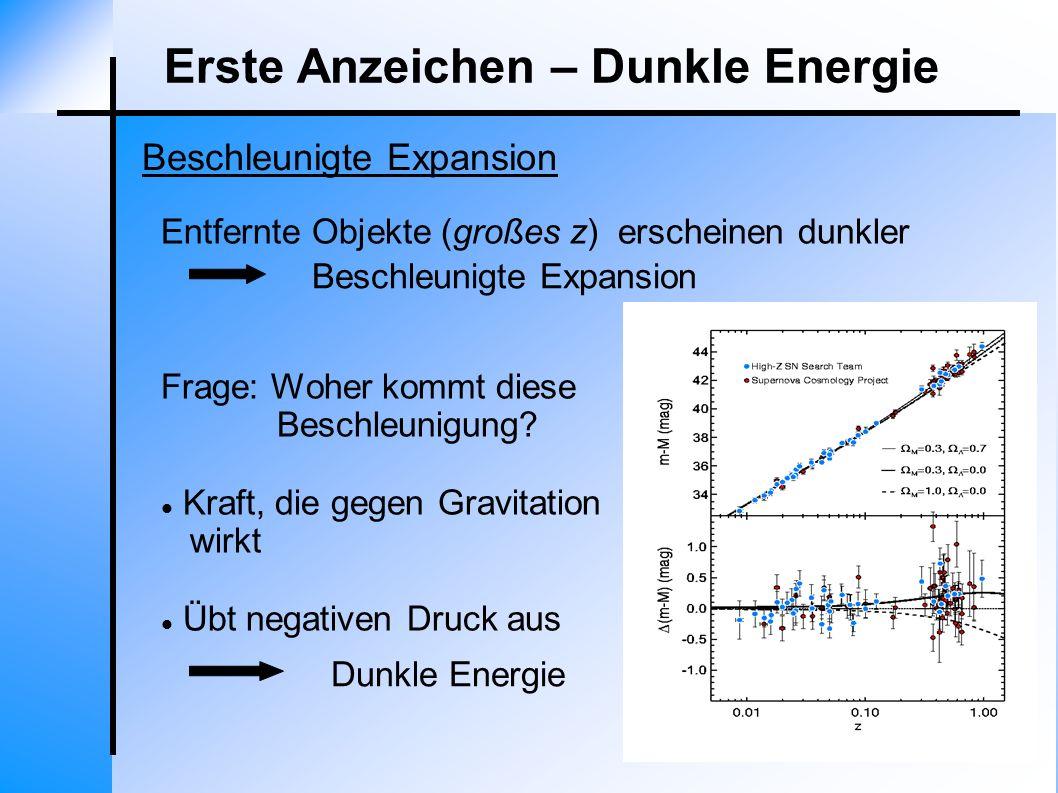Erste Anzeichen – Dunkle Energie