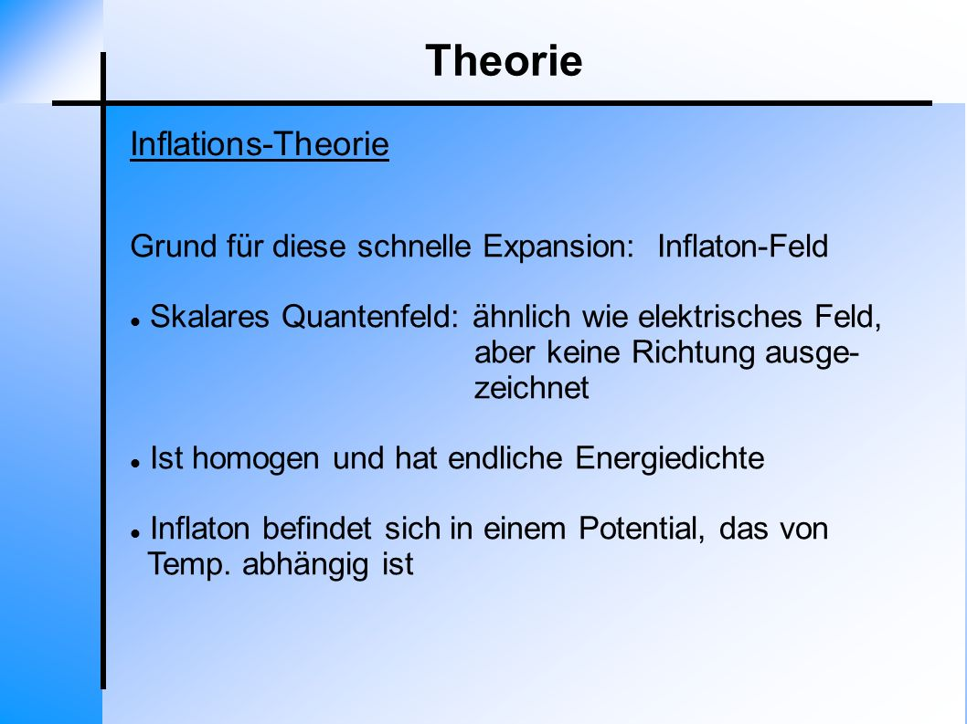 Theorie Inflations-Theorie