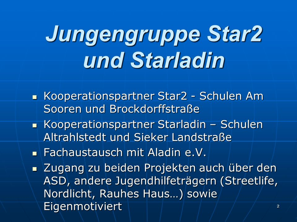 Jungengruppe Star2 und Starladin