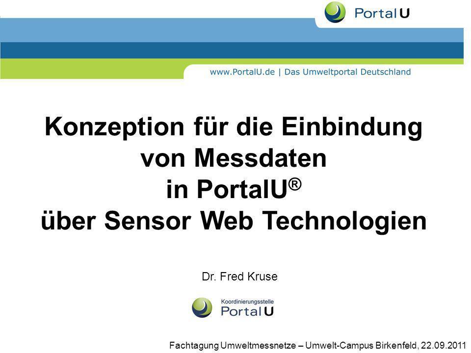 Konzeption für die Einbindung von Messdaten in PortalU® über Sensor Web Technologien