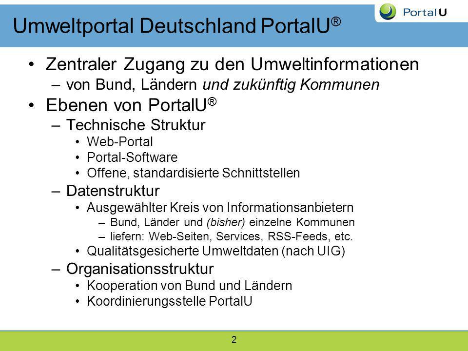 Umweltportal Deutschland PortalU®