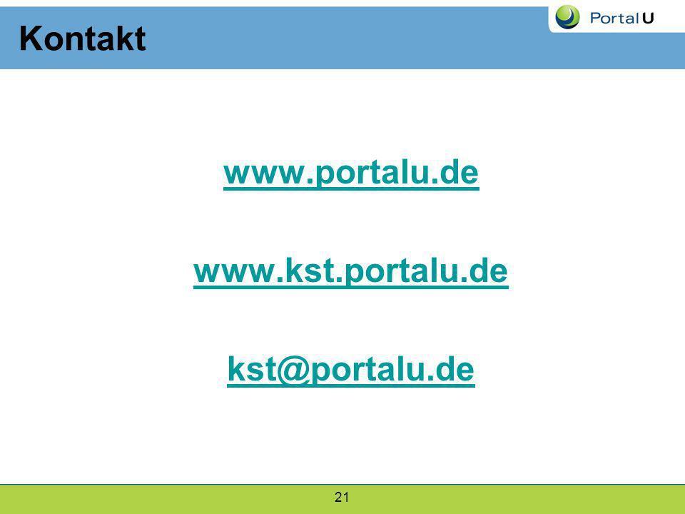 Kontakt www.portalu.de www.kst.portalu.de kst@portalu.de