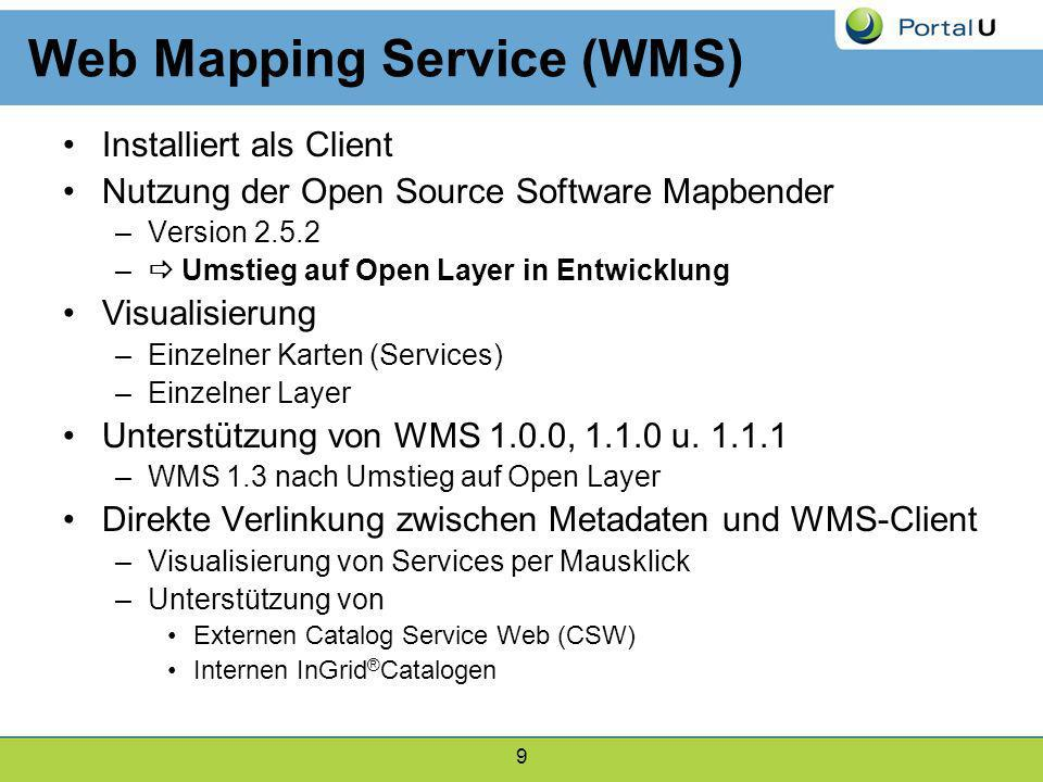 Web Mapping Service (WMS)
