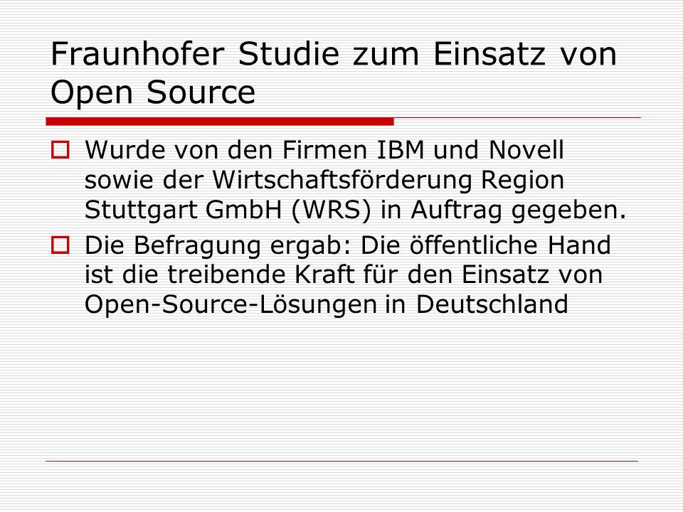 Fraunhofer Studie zum Einsatz von Open Source