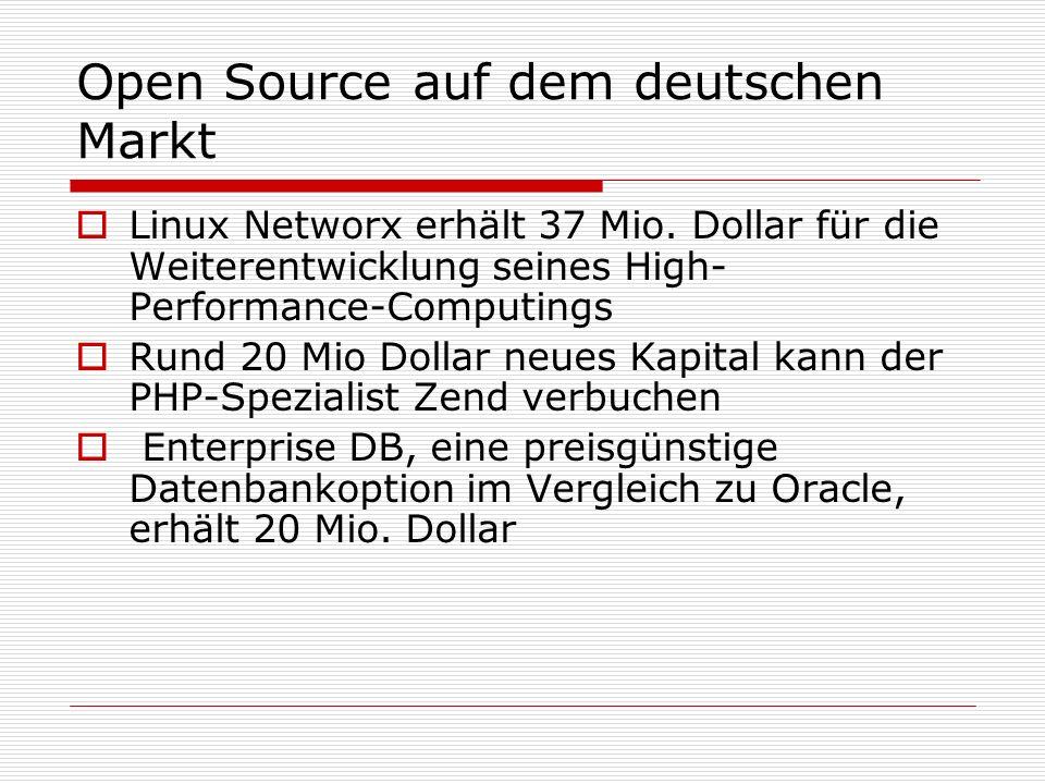 Open Source auf dem deutschen Markt