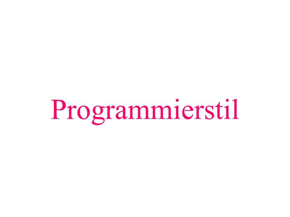 Programmierstil