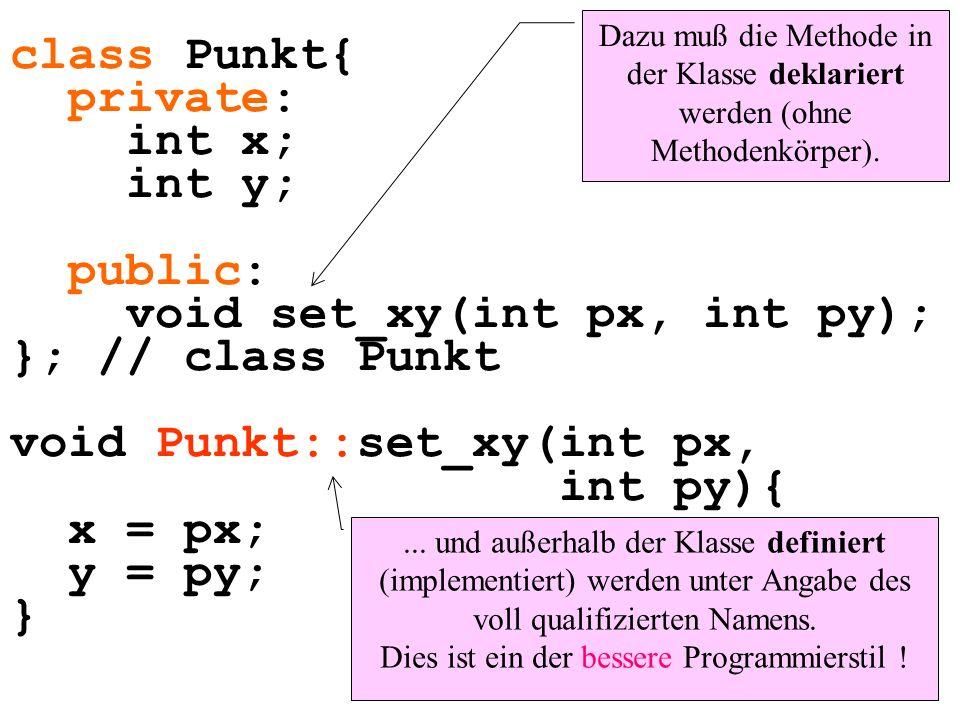 void set_xy(int px, int py); }; // class Punkt