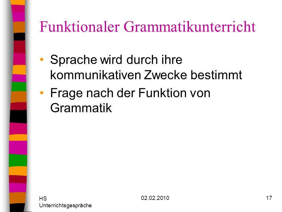 Funktionaler Grammatikunterricht