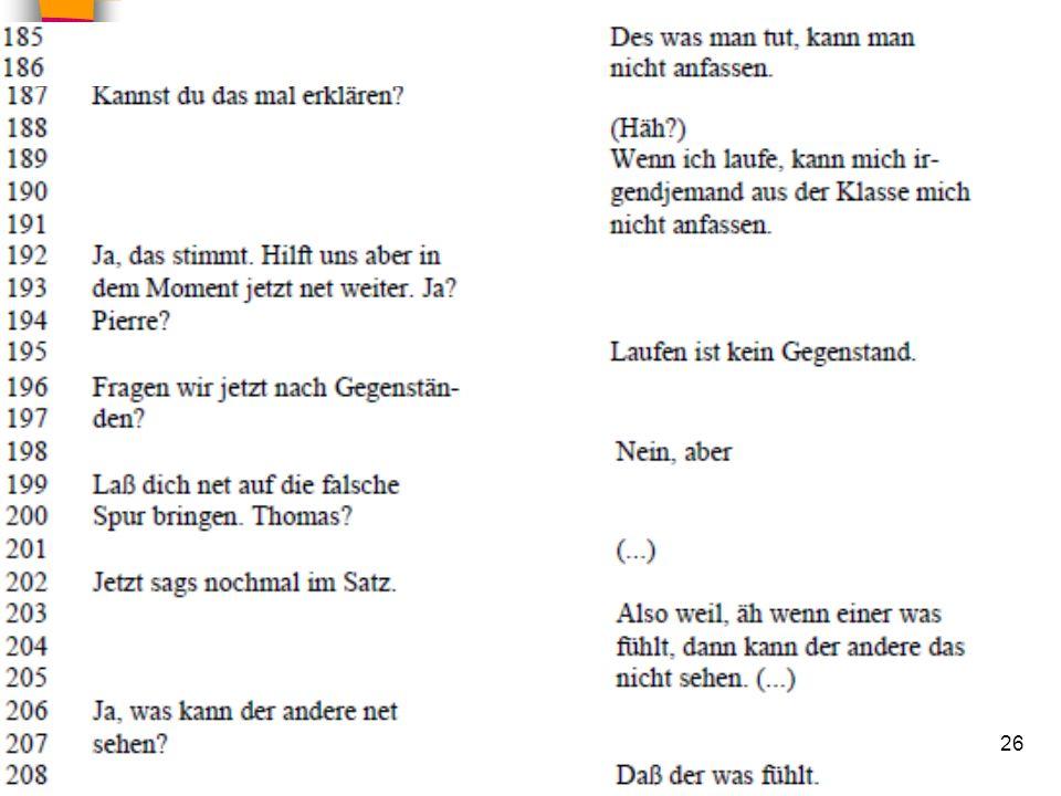 HS Unterrichtsgespräche 02.02.2010