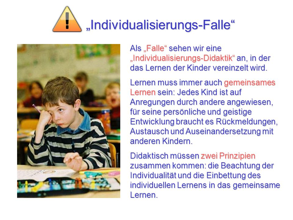 """Individualisierungs-Falle"