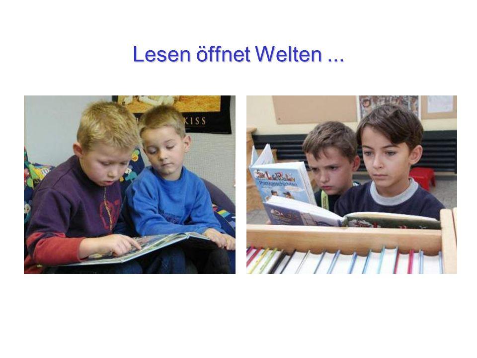Lesen öffnet Welten ...