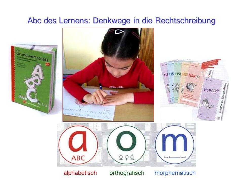 Abc des Lernens: Denkwege in die Rechtschreibung