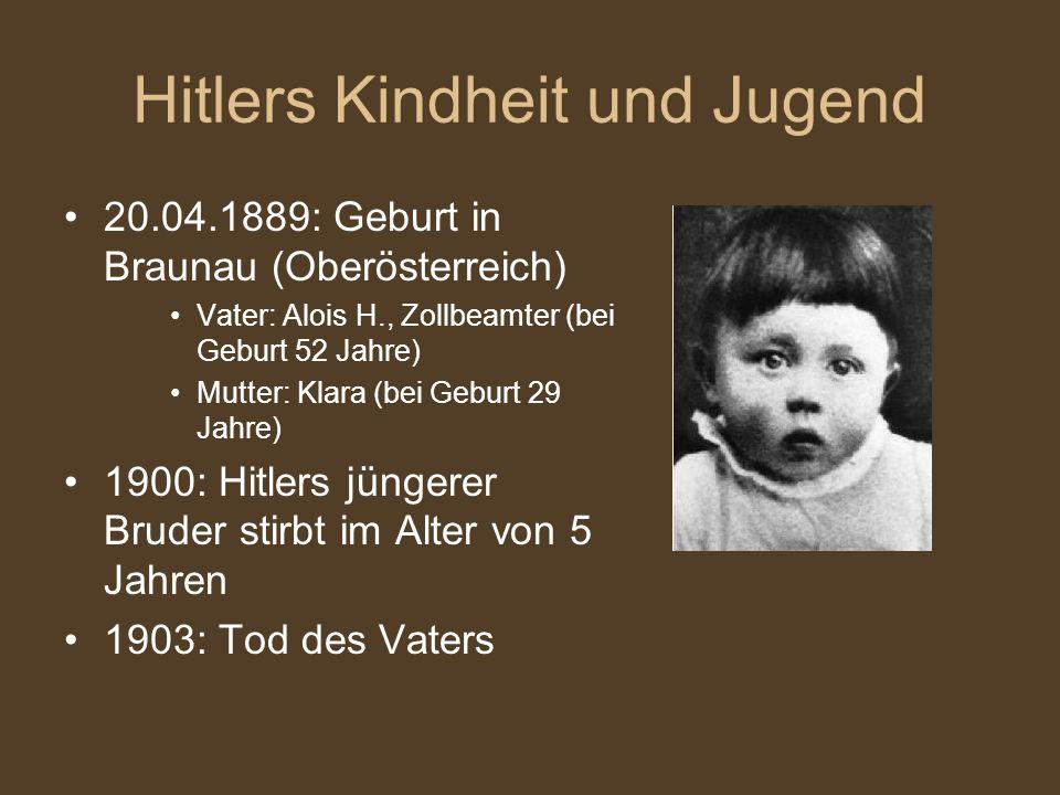 Hitlers Kindheit und Jugend