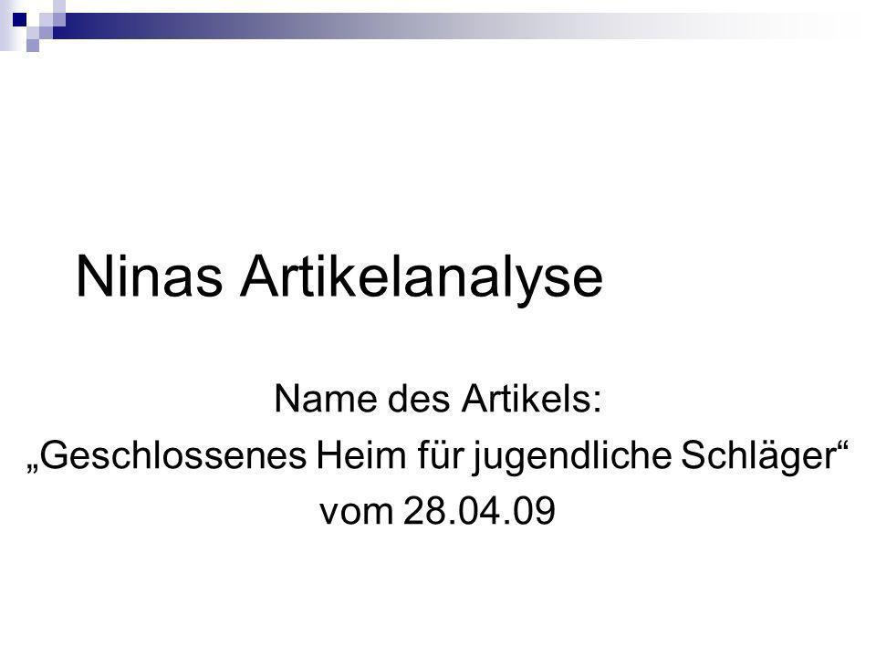 """""""Geschlossenes Heim für jugendliche Schläger"""