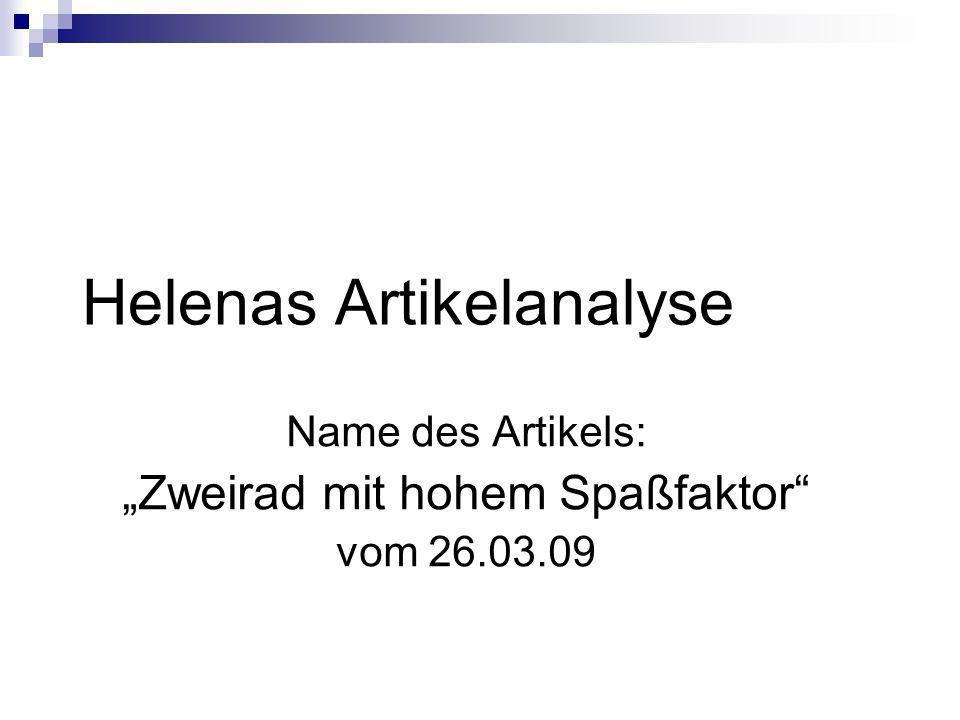 Helenas Artikelanalyse