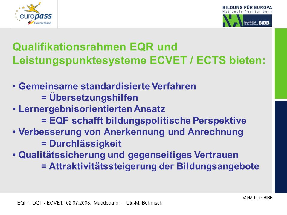 Qualifikationsrahmen EQR und
