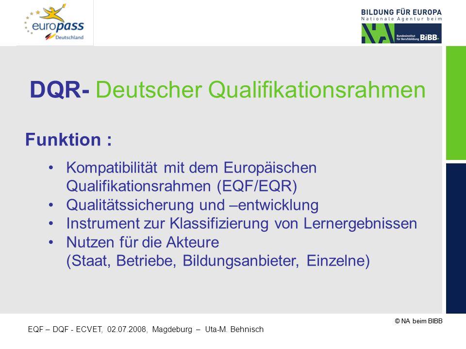 DQR- Deutscher Qualifikationsrahmen