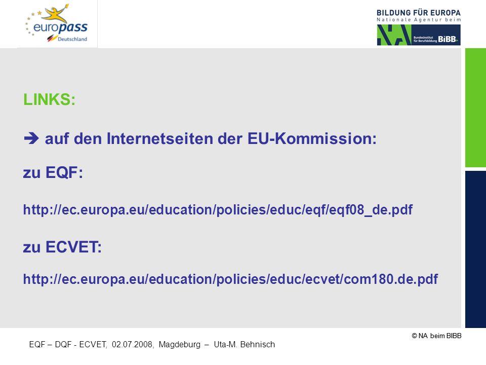  auf den Internetseiten der EU-Kommission: zu EQF: