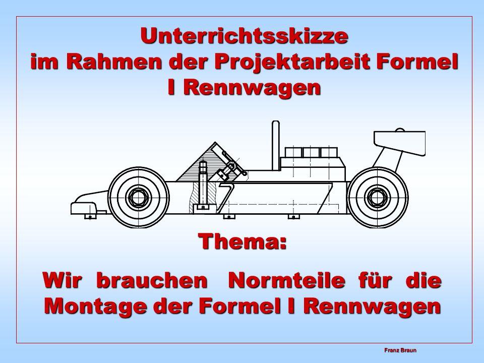 Unterrichtsskizze im Rahmen der Projektarbeit Formel I Rennwagen