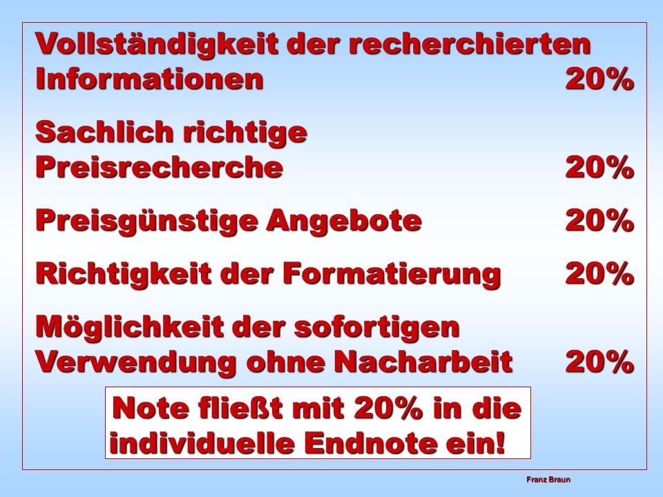 Note fließt mit 20% in die individuelle Endnote ein!